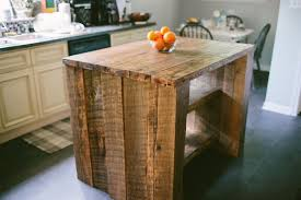 custom made reclaimed kitchen island
