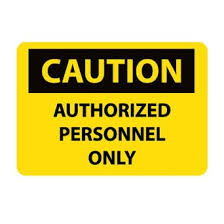get ations nmc c416pb osha sign legend caution authorized personnel only 14