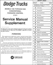 1973 dodge truck repair shop manual reprint supplement this manual covers all 1973 dodge truck conventional models including pickup power wagon 100 200 300 400 500 600 800