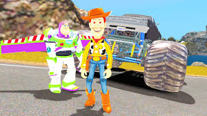 Buzz L Clair Woody Toy Story Monster Truck Disney Cars 2