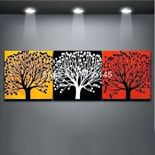 red and yellow wall art red and yellow wall art painting modern three colors tree yellow