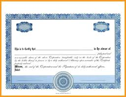 Free Stock Certificate Template Download Image Collections Sample T ...