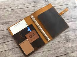 leather binder cover personalized leather portfolio samples