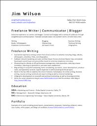 Freelance Resume Writing Resume For Study