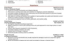 warehouse packer resume unforgettable picker and packer resume