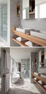 15 Examples Of Bathroom Vanities That Have Open Shelving Wood Bathroom Vanity Floating Bathroom Vanities Custom Bathroom