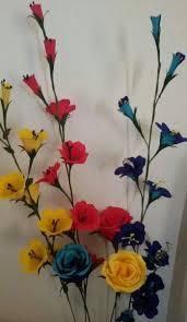 Wax Paper Flower Duplex Paper Flower Sticks And Rose Paper Flowers Diy