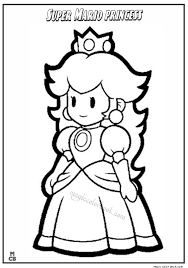 Small Picture Super Mario Princess Coloring Pages