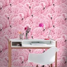 flamingo wallpaper pink rasch 277890 new decor