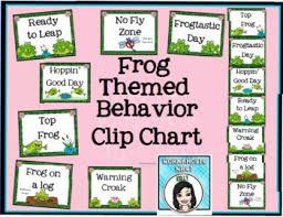 Frog Themed Behavior Chart Behavior Clip Chart Frog Themed