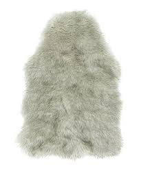 silver gray faux fur rug 8x10