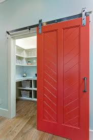 red sliding barn door red barn pantry door sliding e