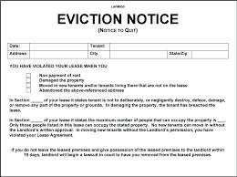 Sample Eviction Notice Letter Landlord Download Them Or Print