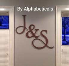 wooden initial monogram wall decor wooden by alphabeticals on monogram wall hanging
