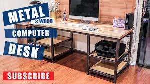 metal wood computer desk build jimbos garage