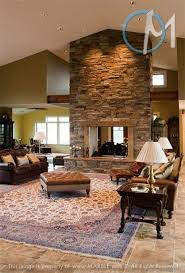 Dual sided fireplace separating kitchen from living room | Kitchen Remodel  Ideas | Pinterest | Kitchens, Room and House