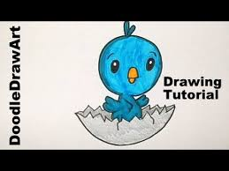 baby birds drawing for kids. Plain Baby Drawing How To Draw A Cute Cartoon Baby Bird Hatching From Its Shell   Easy Drawing Lesson YouTube Birds For Kids 3