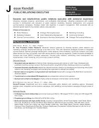 Sample Public Relations Resume Gallery Creawizard Com
