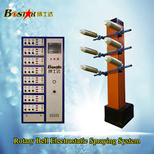 factory hot pneumatic suspension rotary bell automatic electrostatic paint spray