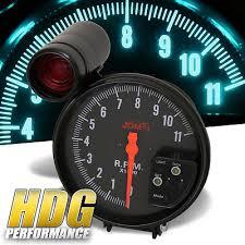 universal 5 4 in 1 racing tachometer gauge shift light 11k rpm universal jdm racing led 7 color 5 tachometer glow gauge w shift light black