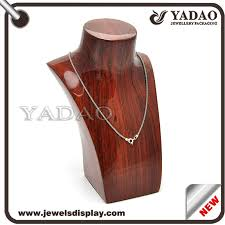Wooden Necklace Display Stands jewelry display busts famous busts plastic busts necklace 24