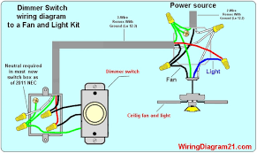 ceiling fan dimmer switches wiring