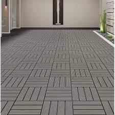 composite interlocking deck tile wood