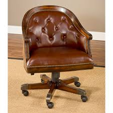Game Table And Chairs Set Harding Game Table Set Brown Leather Chairs Rich Cherry Dcg