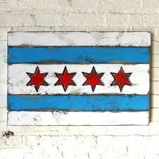 chicago flag wall art