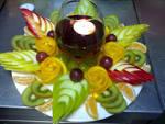Украшение стола из овощей и фруктов