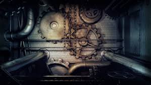 Steampunk Gears Pipes Chains dark ...