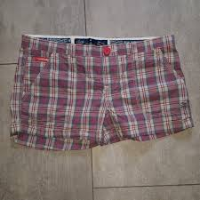 Cute Ladies Checked Shorts By Superdry Size Small Depop