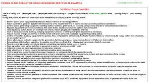 Power Plant Operator Job Title Docs