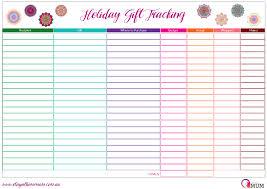 Spreadsheet Tracking Holiday Gift Tracking Spreadsheet