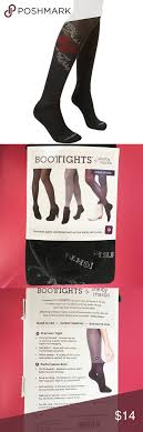 Ariat Bootights Single Rose Black Hose Tights Brand New