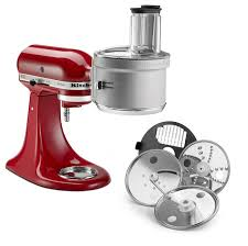 kitchenaid new attachments. base and premium food processor attachments feature exactslice™ system 2-in-1 wide mouth feed tube. model is available for $179.99; kitchenaid new t