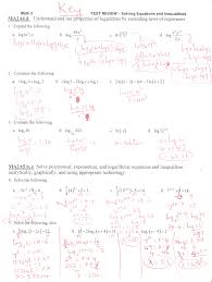 exponential and logarithmic function review ms osawaru exponential and logarithmic equations inequalities worksheet solving