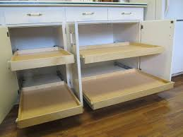 Furniture Diy Custom Pull Out Double Tray Shelves For Kitchen