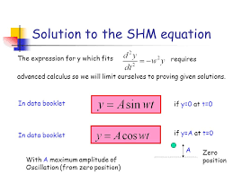 solution to the shm equation