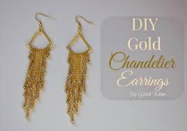 diy gold chandelier earrings