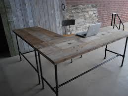 l shape modern rustic desk made of reclaimed by urbanwoodgoods