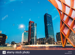 modern architecture skyscrapers. Skyscrapers And Modern Architecture In Vienna Austria At Night J