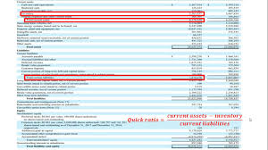 Ratios In Balance Sheet How To Calculate The Quick Ratio Acid Test From A Balance Sheet