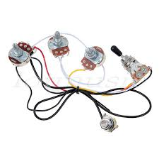 electric guitar wiring harness kit 3 way toggle switch 2 volume 1 electric guitar wiring kits electric guitar wiring harness kit 3 way toggle switch 2 volume 1 tone 500k