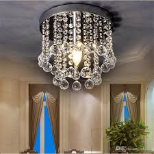 2019 mini crystal chandelier light fixture small clear amber k9 crystal re lamp ceiling lamp for aisle stair hallway corridor porch 110v 220v from ok360