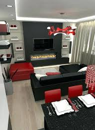Red And Black Living Room Decor Black And Red Living Room Ideas Red ...