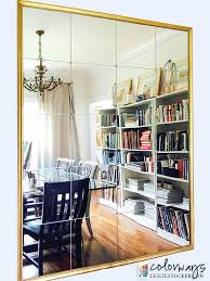 wall mirrors with shelves mirror using mirror tiles and brass nail head tacks inspired by pottery barn three hands mirror wall shelves wall mirror w shelf
