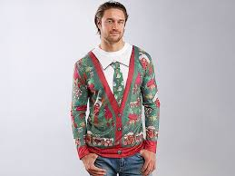 Mens Ugly Christmas Sweater T-Shirt image from BulbHead \u2013