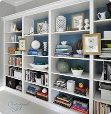 ikea office shelves. I Love How Adding Moulding To Ikea Bookshelves And Painting The Backs Makes Such A Huge Office Shelves L