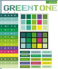 Green tone color scheme ...